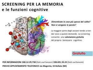 screening memoria settimana del cervello